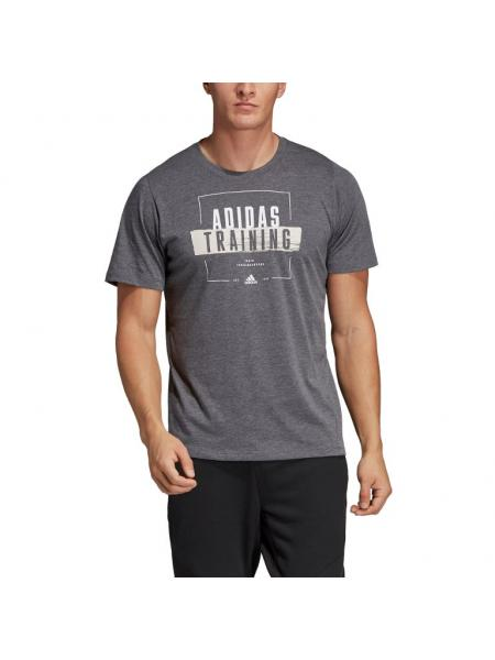 Мужская футболка Adidas Badge Graphic Tee - DV2493