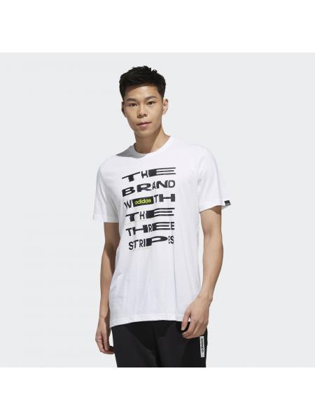Мужская футболка Adidas Distorted Font - FM6281