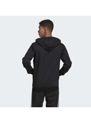 Мужской реглан Adidas Essentials 3-Stripes Fleece Hoodie - DQ3101